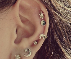 fashion, helix, and ear piercing image