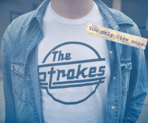 boy, shirt, and the strokes image