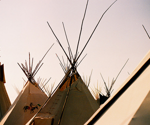 native american and tents image
