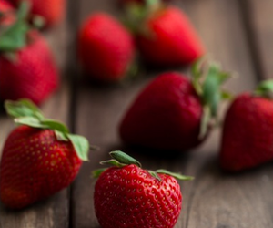 fruit, strawberry, and red image