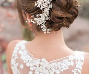 hairstyle, pretty, and wedding image