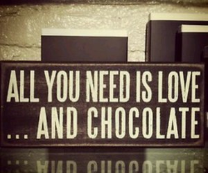 chocolate, quote, and love image