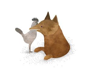 bear, cartoon, and hen image
