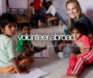 abroad, volunteer, and want image