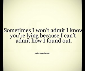 quote, lying, and admit image