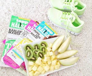 fitness, fruit, and nike image