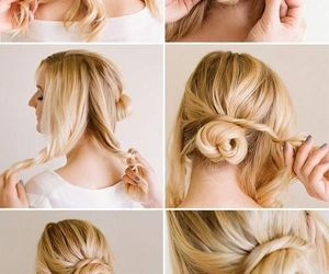 blonde, braid, and curly image