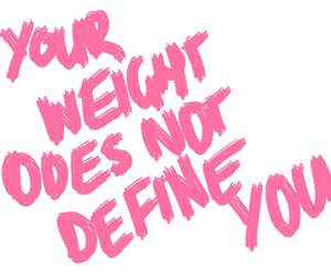 quotes, weight, and pink image