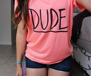 dude, girl, and pink image