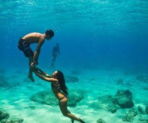 love, couple, and sea image