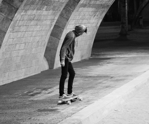 black, chill, and longboard image