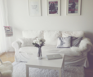 home style, living room, and white image
