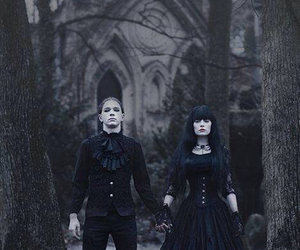 black, dark, and gothic image