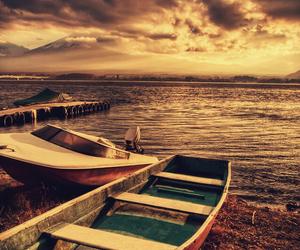beach, boat, and pretty image