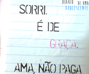diary, portuguese, and smile image