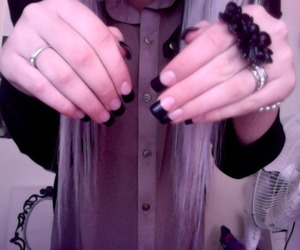 pale, nails, and girl image