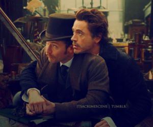 holmes, jude law, and watson image