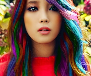 hair, iu, and colors image
