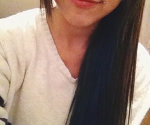 blue hair, piercing, and smile image