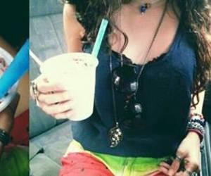 bracelets, drink, and milk shake image