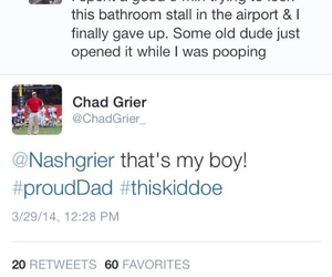 tweet, dad and son, and nash grier image