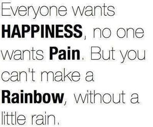 pain, rainbow, and happiness image