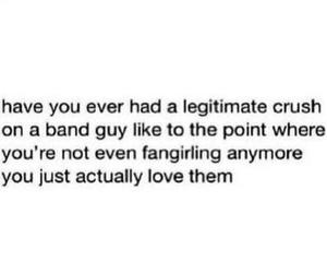 love, band, and crush image