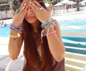 bracelets, hippie, and rings image