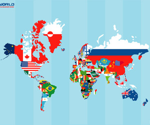 world, map, and russia image