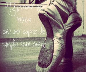 ballet, point shoes, and sueños image