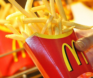 fries, food, and McDonalds image