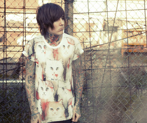 oliver sykes, tattoo, and bring me the horizon image