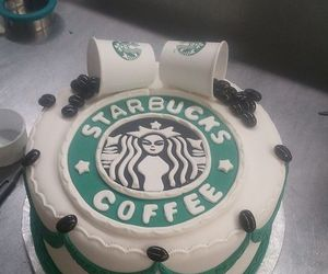 starbucks, cake, and coffee image