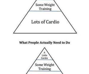 cardio, fitspo, and strength training image