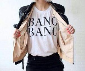 fashion, jacket, and bang image