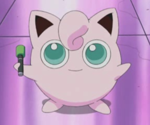 anime, pokemon, and jiglypuff image