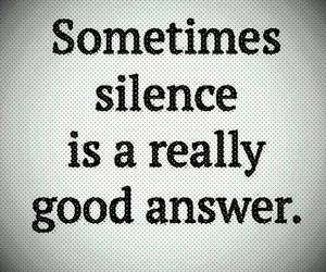 silence, answer, and quote image