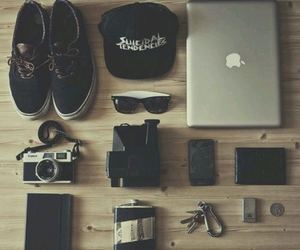 camera, vans, and shoes image