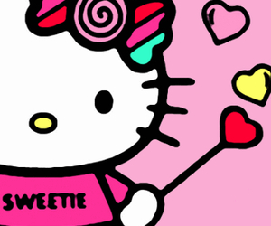 HelloKitty, kitty, and pink image