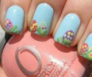 easter, blue, and nails image