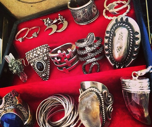 rings, grunge, and jewelry image