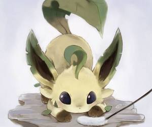 pokemon, leafeon, and cute image