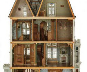 house, doll house, and dollhouse image