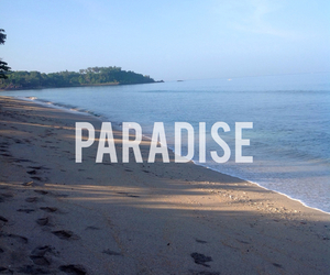 paradise, beach, and blue image