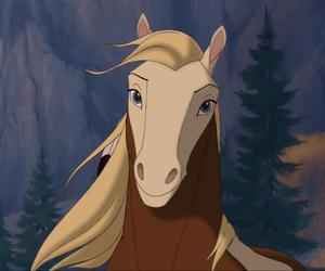 horse, rain, and spirit image