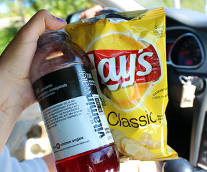 food, lays, and drink image