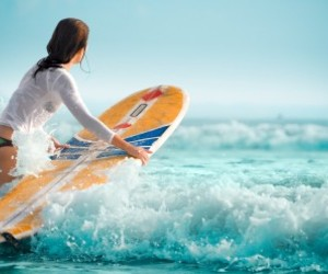 beautiful and surfer image