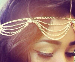 hair, gold, and accessories image