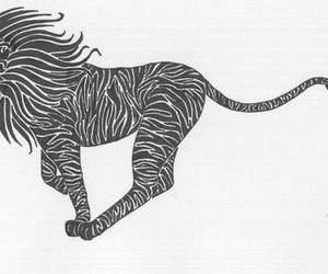 lion, tribal, and tattoo image