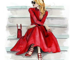 fashion, art, and red image